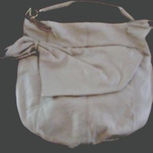 Large Junior Drake Ivory Leather Handbag/Purse